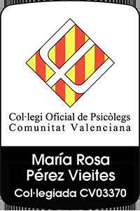 Sello del Colegio de psicólogos valencia - Rosa Pérez Vieites