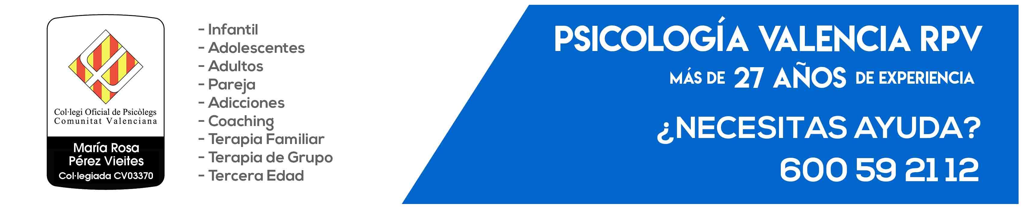 Psicología Valencia, patologías psicologicas